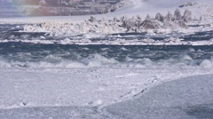 Niagara Falls River winter 09svv Stock Footage