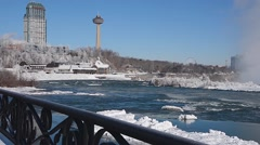 Niagara Falls River winter 07svv Stock Footage