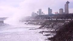 Niagara Falls_Skyline_winter_04svv Stock Footage
