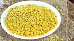 Yellow Lentils (not loopable) - stock footage