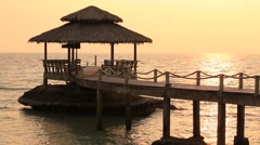 Stock Video Footage of Video 1920 x 1080 - Sunset on the beach.  Thailand