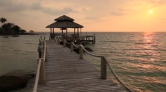 Stock Video Footage of Video 1920 x 1080 - Sunset on the beach. Island Koh Kood, Thailand