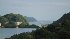 Inlet on the Micronesian island of Palau Stock Footage