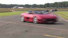 Supercar track parade 5 Stock Footage