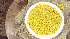 Dried Yellow Lentils (not loopable) - stock footage