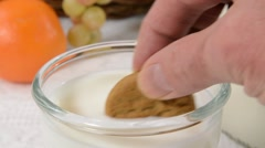 Milk and cookies Stock Footage