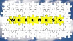 Wellness Health Care Puzzle Pieces Lifestyle Stock Footage