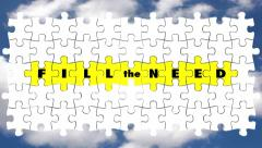 Fill the Need Puzzle Pieces Serve Customers Demands Stock Footage
