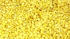 Yellow Lentils (not loopable) Stock Footage