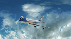 Air Force One Animation - stock footage
