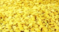 Dried Yellow Lentils (not loopable) Stock Footage