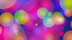 Multicolored Glowing Circles Abstract Motion Background Loop Stock Footage