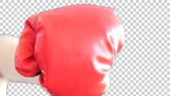 Male hand punch the screen Stock Footage