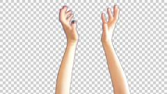 Female hands wipe the screen - stock footage
