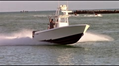 3 Engine Open Fisherman Stock Footage