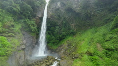 Machay waterfall upper part, static shot Stock Footage
