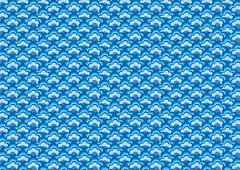 Oriental Blue Wave Background pattern Stock Illustration
