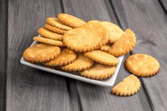 cookies a cracker round - stock photo