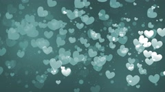 Flying Hearts Bokeh 2 - stock footage