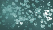 Stock Video Footage of Flying Hearts Bokeh 2