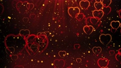Heavenly Hearts Bokeh - stock footage