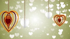 Hanging Hearts - stock footage