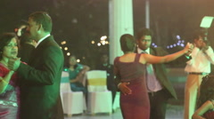 Indian people dance at  catholic wedding party Stock Footage