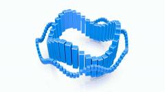 Floating exchange rate. Seamless loop, blue - stock footage