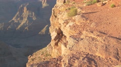 Stock Video Footage of Dangerous edge,  Grand Canyon, Arizona