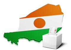 ballotbox Niger - stock illustration