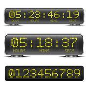 LED countdown timer - stock illustration