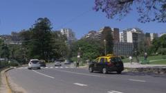 Street in the Recoleta neighborhood Stock Footage