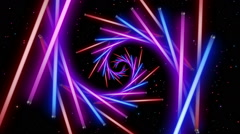 Neon Space 3 - stock footage