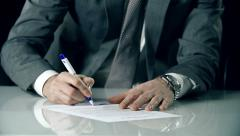 Unilateral Contract Signature Stock Footage