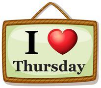 I love Thursday Stock Illustration