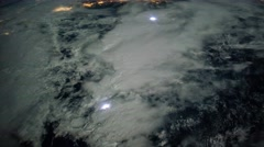 ISS Aurora Borealis Over East Coast USA, Timelapse 4K FF 96fps Stock Footage