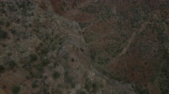 Aerial view: cliff with trees in Grand Canyon, Arizona Stock Footage