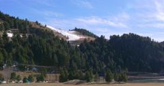 vall de nuria mountain resort forest ski trail 4k spain - stock footage