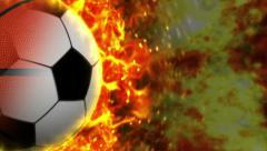 Sports Balls (Soccer, Basket, Tennis, Baseball) and Flames Stock Footage