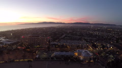 Aerials of west Los Angeles from Mothers Beach in the Marina at Sunset #16 Stock Footage