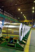 Zinc-coated steel coil Stock Photos