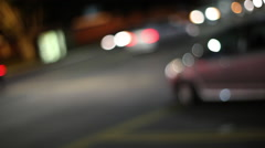 Intersection traffic Stock Footage