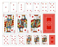 Bridge size Diamond playing cards plus reverse Stock Illustration