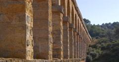 Tarragona puente del diablo bridge close up view 4k spain Stock Footage