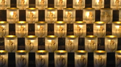 Prayer candles in Notre Dame Cathedral, Paris, France Stock Footage