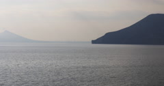 Sunset view on benidorm coast 4k from Stock Footage