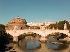 Ponte and Castel Sant'Angelo - stock photo
