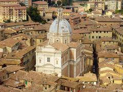Church in Siena - stock photo
