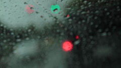 Windshield wipers Stock Footage