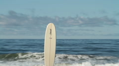 Stock Video Footage of surfboard